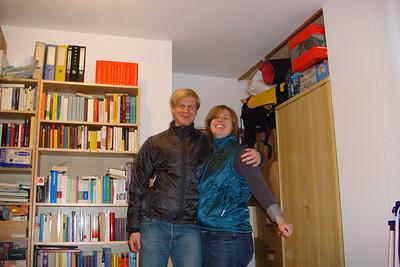 Saskia and Thomas in their new REI jackets.