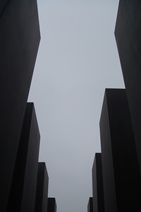 Looking up from inside the Holocaust Memorial.