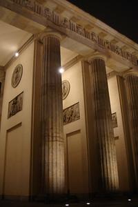 The pillars of the Brandenberg Gate.