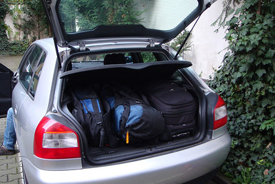 We packed the Audi A3 with four people and all our luggage for the trip to Berlin.
