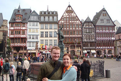 Michal and Sarah in front of the Roemer in Frankfurt, Germany.
