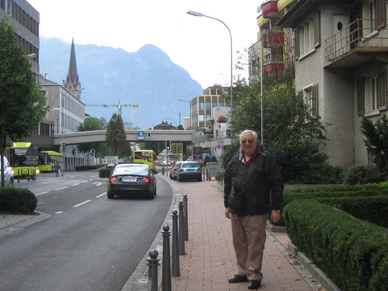 Dad in Vaduz, Liechtenstein