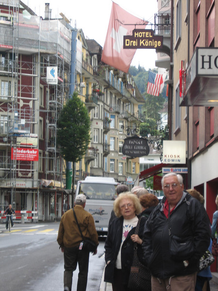 Pat & Dad in Luzerne, Switzerland