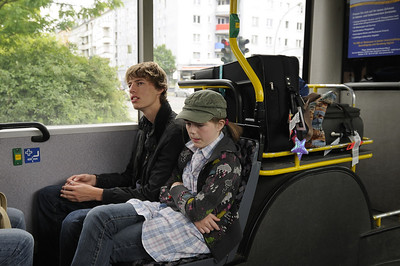 Strangers on the bus to central Berlin