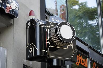 Rotating Nikon sign, Berlin