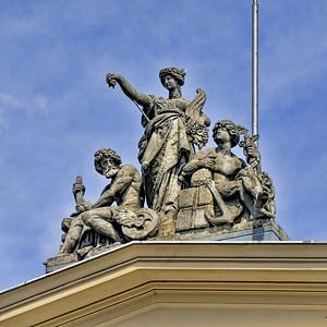 Rooftop statue