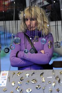 Jewelery for sale, outdoor market, Berlin
