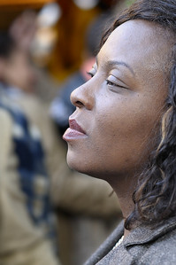 Attendee at early evening Caribbean music concert, Berlin