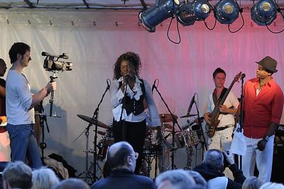 Outdoor concert band, Savigny-Platz, Berlin
