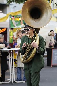 Tuba player, Savigny-Platz, Berlin