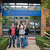 Sasha, Aaron, Gramms, and I in front of the Surrey Space Centre, where Aaron works.