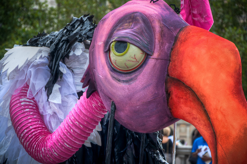 I saw this puppet as we were walking along Leicester Square and loved the colors!