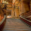 We took a tour of the Paris Opera, the setting for Phantom of the Opera. Although we couldn't see the inside of the theatre because of receitals, the lobby was amazing. This photo is looking up from the bottom of the staircase to the main floor.
