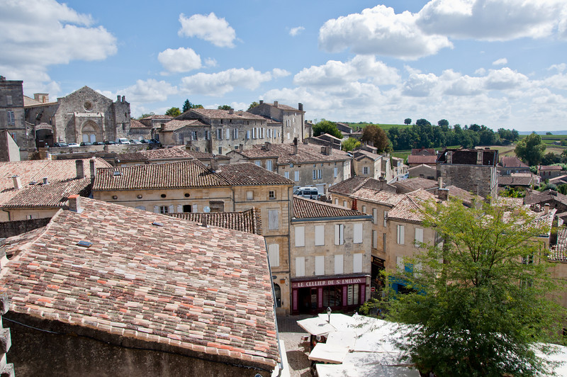 Looking out on St. Emilion from the top of the hill as we arrived into town.