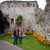Aaron and Linda in front of the Guilford Castle.