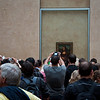 Inside the Louvre in Paris, fighting the crowds of people in front of the Mona Lisa. I found it really kind of crazy that so many people come to see the Mona Lisa and end up looking at it through their camera lense. So I had to take a picture of everyone taking a picture :)