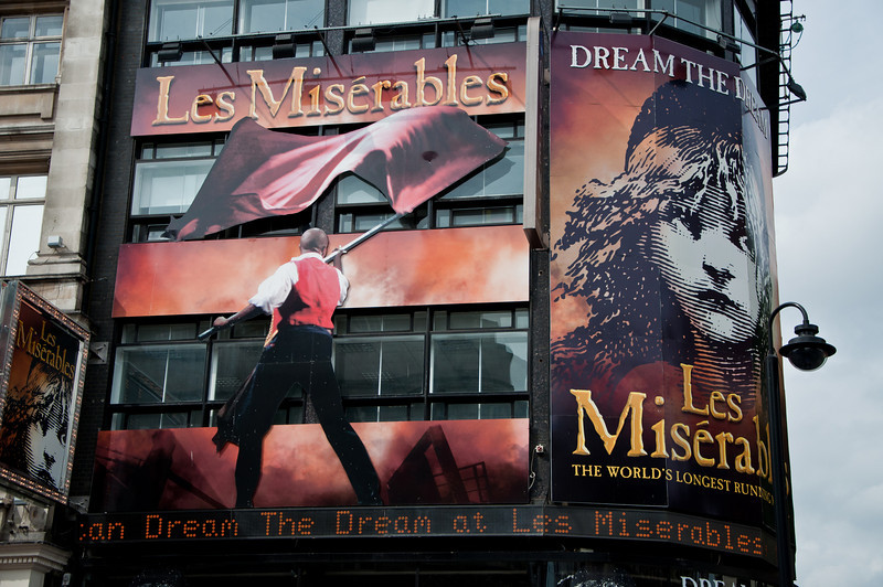 We were able to get tickets to see Les Miserables, which was playing at Queen's Theatre in London. Les Mis was fantastic!