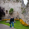 Sasha and I in front of the castle in Guilford.