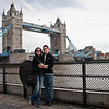 Sasha and I in front of the Tower Bridge in London.