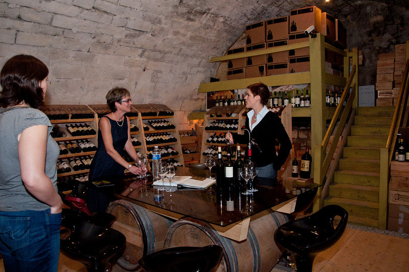 Our last stop for the day was a private wine tasting at one of the local wine stores. We had a great overview of the wines of the region and tastings of some awesome wines. On the left is Caroline, who was our tour guide.