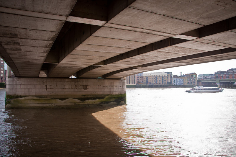 The underside of the London Bridge. I thought it would be so much more impressive than it actually was.