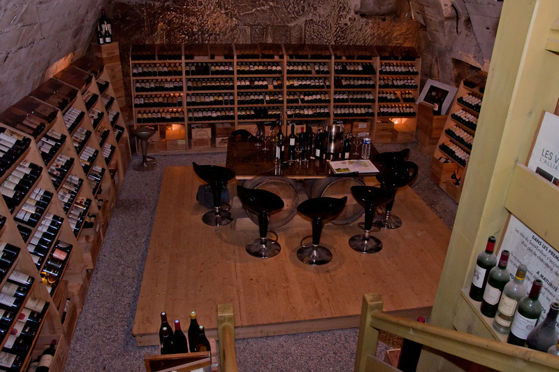 A view of the cellar where we stopped for wine tasting in St. Emilion, France.