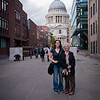 Sasha and Gramms in front of St. Paul's Cathedral..