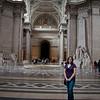 Sasha inside the Pantheon in Paris, France.