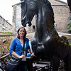Lots of horses scattered around Camden Market. This one takes some time to sniff Sasha's hair.