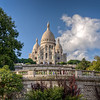 A view from afar of Sacre Couer in Paris, France.