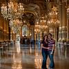 Sasha and I inside the halls of the Opera Paris.