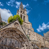In the main centre of the town is a monolithic church - it was carved out of one stone.