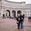 Sasha and Gramms near Buckingham Palace.