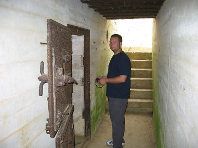 Andrew exploring old german bunkers