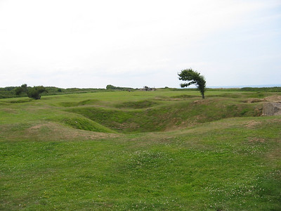 Point du Hoc craters