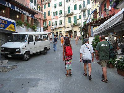 The main street in Riomaggiore...
