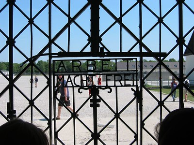 """Work Makes You Free""  - The gates into Dachau Concentration Camp"