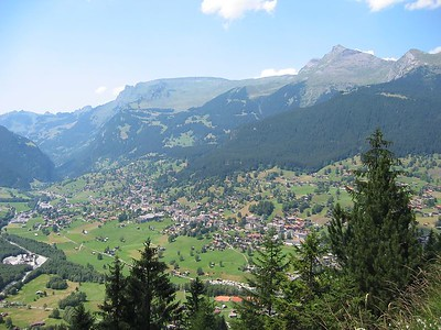 Grindelwald from above