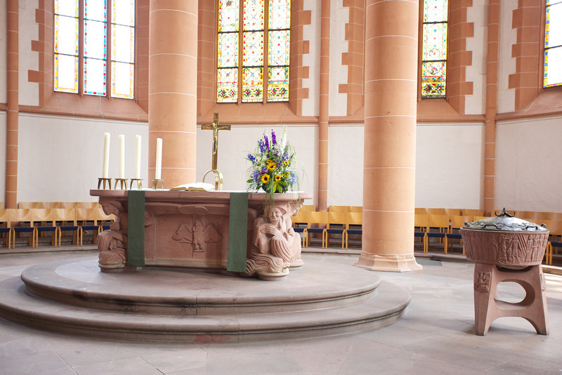 Altar in Heidelberg cathedral.