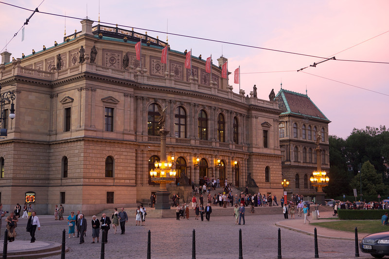 True to their reputation, the opera house in Prague was well attended.