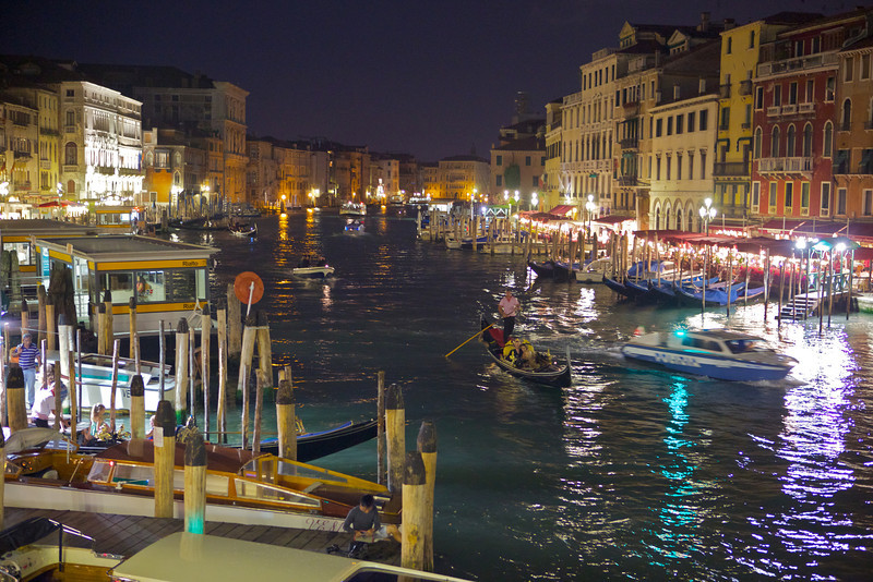 Another shot of Venice's Grand Canal at night.