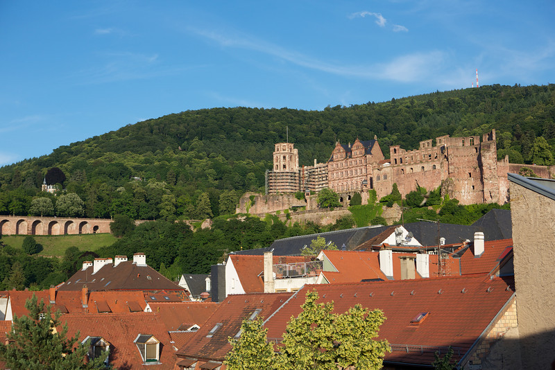 View of Heidelberg castle from my hotel room window.