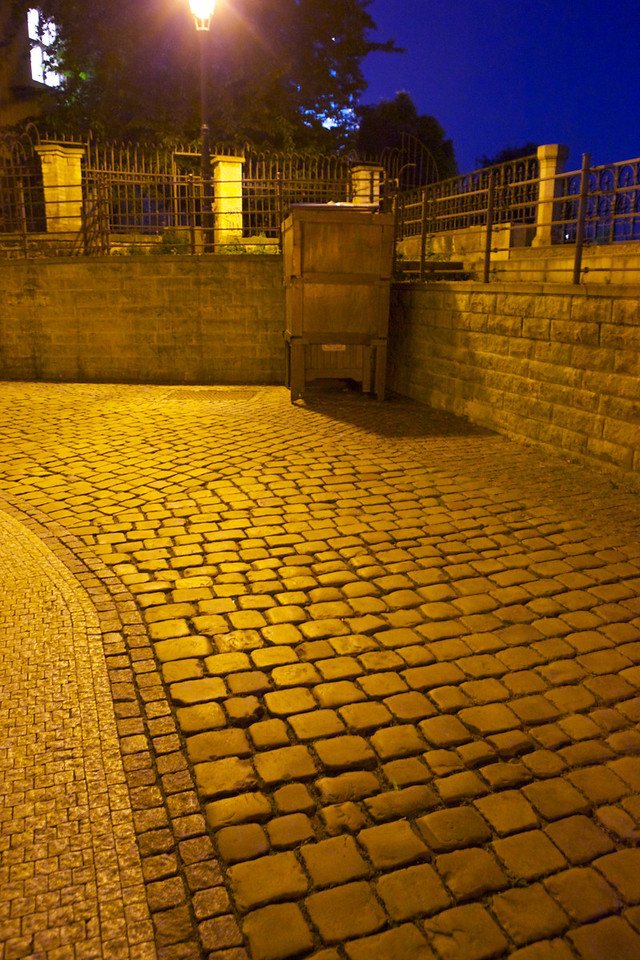 Cobblestone streets are everywhere in downtown Prague.  We really don't have them in the US.