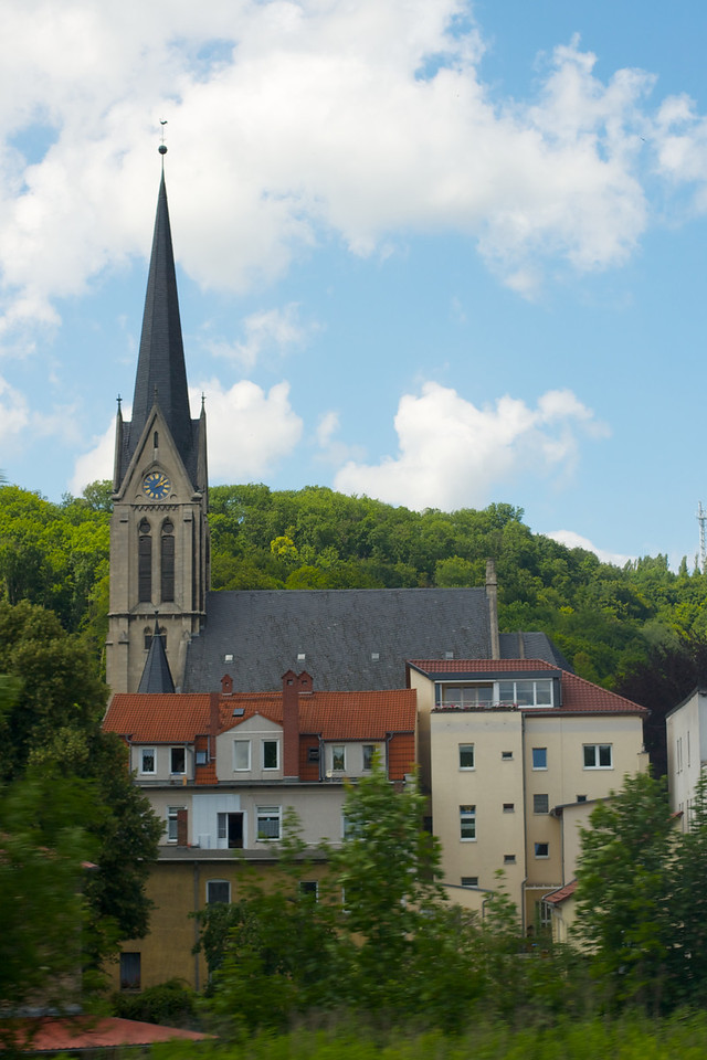 Typical town church in the German countryside.