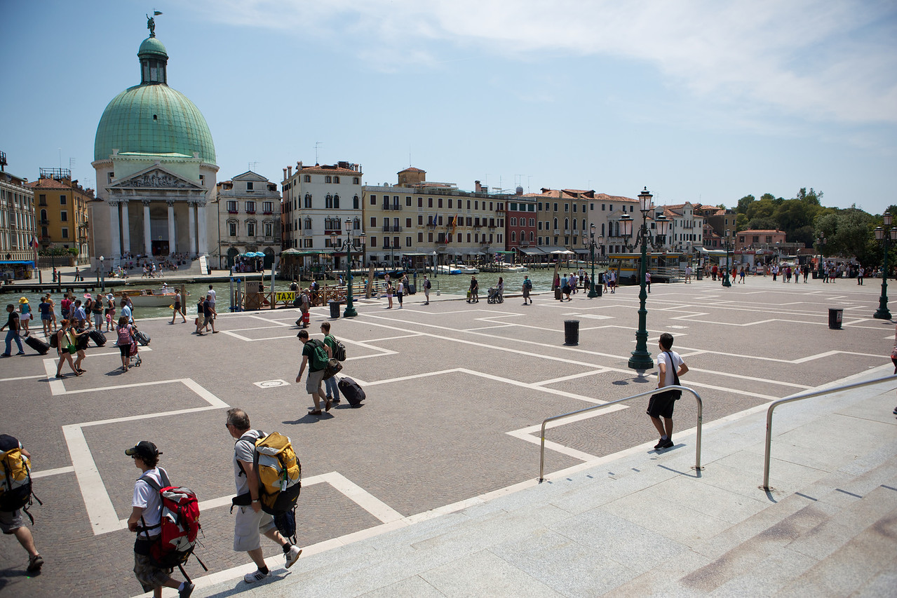 This was the plaza that opened out to us as we left the train station coming into Venice.