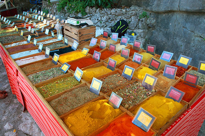 Eze, France. Spices.