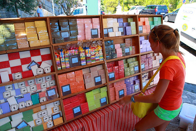 Eze, France. Soaps for sale.
