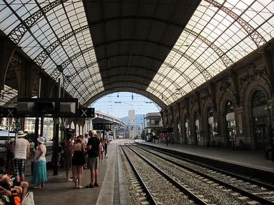 Nice train station.