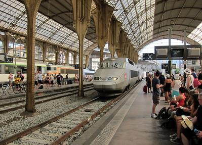 Nice train station. TGV.