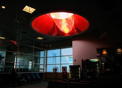 At Burlington VT airport.